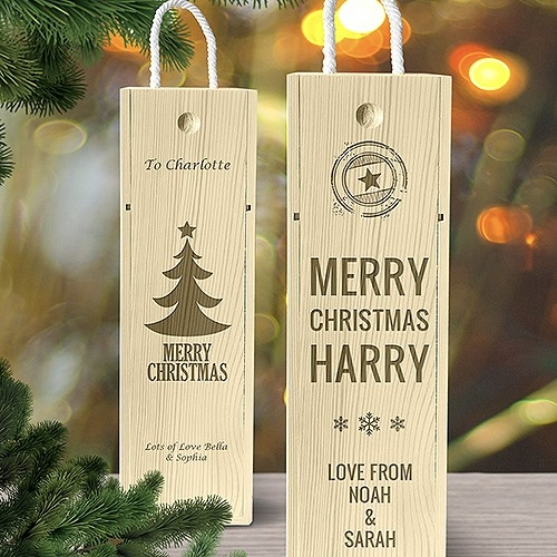 Christmas Wine Boxes