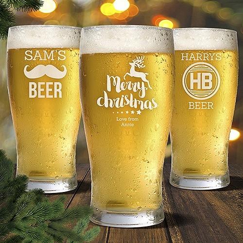 Engraved Standard Beer Glasses