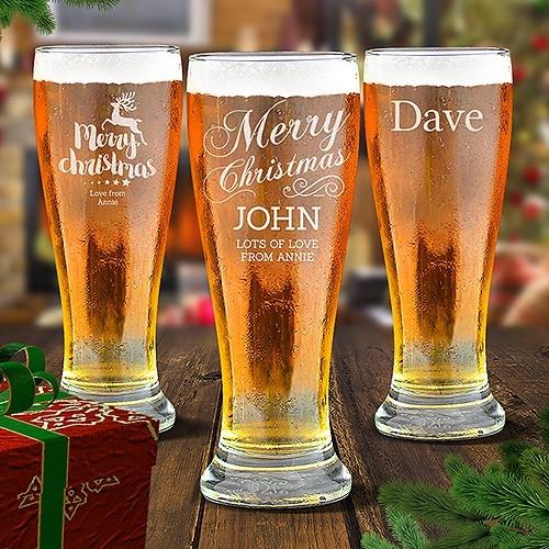 Christmas Premium Beer Glasses