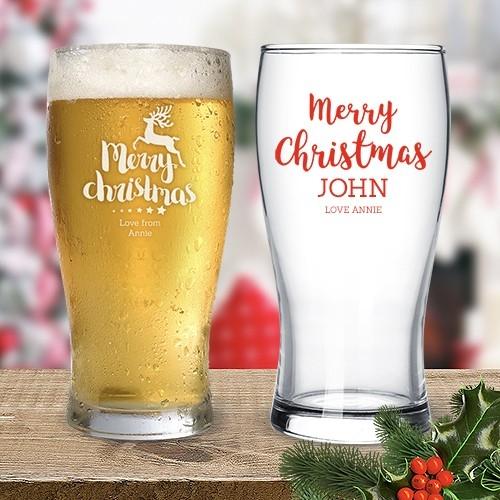 Christmas Standard Beer Glasses