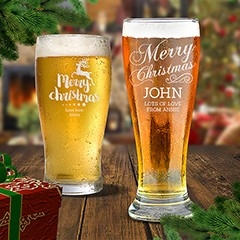 Christmas Beer Glasses
