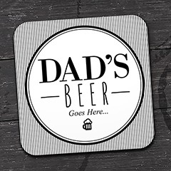 Dad Square Coasters