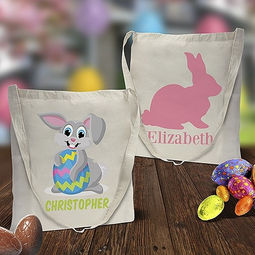 Easter Calico Tote Bags