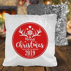 Christmas Sequin Cushion Covers