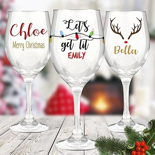 Colour Printed Wine Glasses