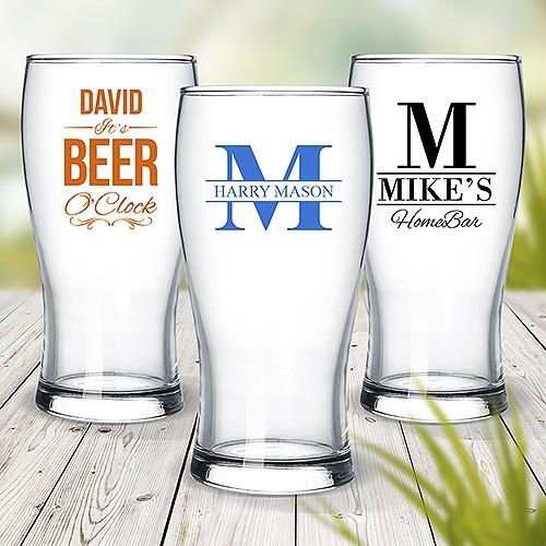 Colour Printed Standard Beer Glasses