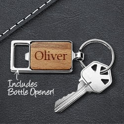 Engraved Rectangle Keyrings