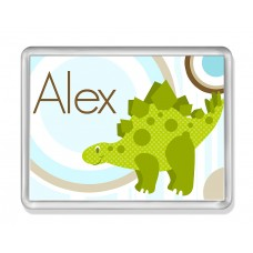 Fridge Magnet with Green Dino