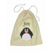 Drawstring Library Bag with Penguin