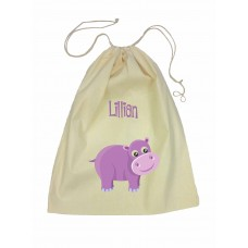 Drawstring Library Bag with Yellow Tiger