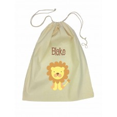 Drawstring Library Bag with Lion