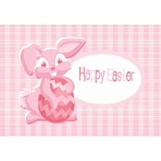 Easter Postcard, Pink Bunny Design