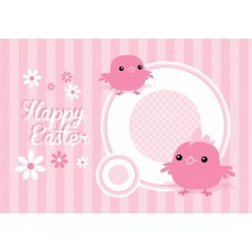 Easter Postcard, Cute Birds Design