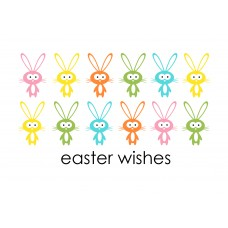Easter Postcard, Bunnies Design