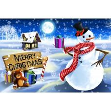 Santa Postcard, Snowman Design