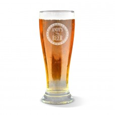 Circle Engraved Premium Beer Glass