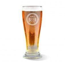 Cog Engraved Premium Beer Glass