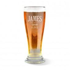 Groom Engraved Premium Beer Glass