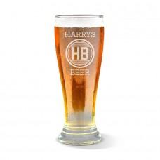 Monogram Engraved Premium Beer Glass