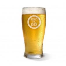 Circle Engraved Standard Beer Glass