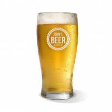 Cog Engraved Standard Beer Glass