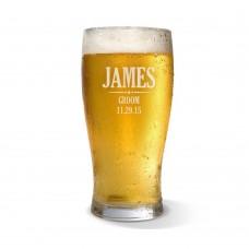 Groom Engraved Standard Beer Glass
