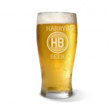 Monogram Engraved Standard Beer Glass