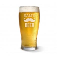 Moustache Engraved Standard Beer Glass