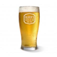 Sign Engraved Standard Beer Glass