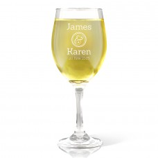 Couples Design Wine Glass