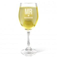 Mr Love Wine Glass