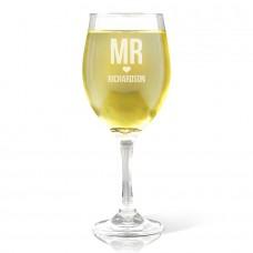 Mr Love Engraved Wine Glass