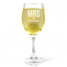 Mrs Love Wine Glass