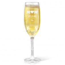 Mum Champagne Glass