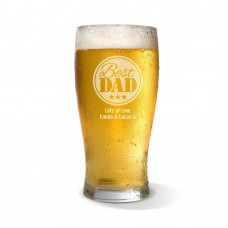 Best Dad Engraved Standard Beer Glass