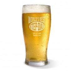 World's Best Step-Dad Standard Beer Glass