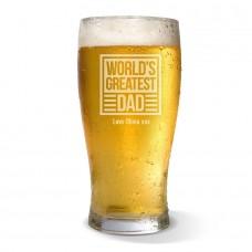 World's Greatest Dad Standard Beer Glass