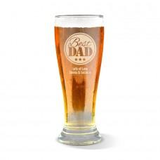 Best Dad Premium Beer Glass