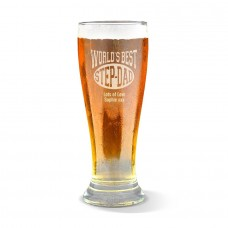 World's Best Step Dad Engraved Premium Beer Glass