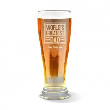 World's Greatest Dad Engraved Premium Beer Glass