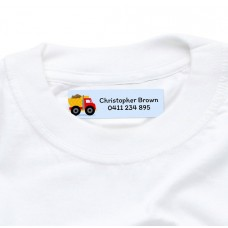 Truck Iron On Clothing Label