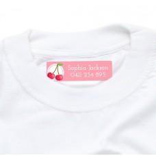 Cherry Iron On Clothing Label