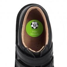 Soccer Shoe Dot Label