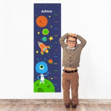 Space Wall Decal Height Chart