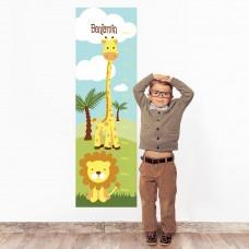 Safari Wall Decal Height Chart