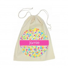 Bubbles Drawstring Library Bag