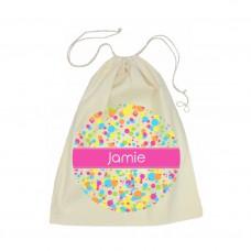 Bubbles Calico Drawstring Bag