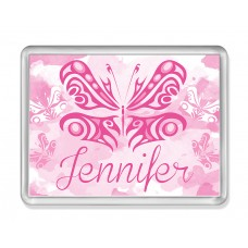 Fridge Magnet with Pink Butterfly
