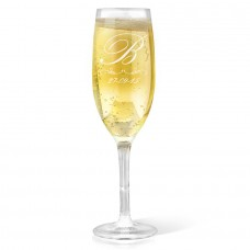 Initial Champagne Glass
