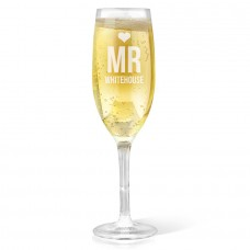Mr Heart Champagne Glass